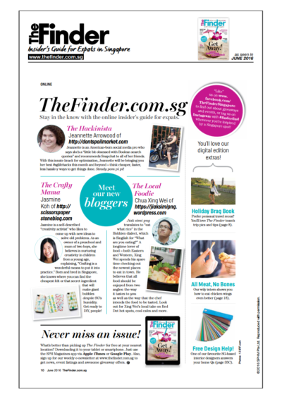 PUBLISHED ALREADY: The Finder Singapore