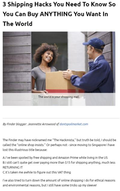 PUBLISHED ALREADY: 3 Shipping Hacks for Singapore