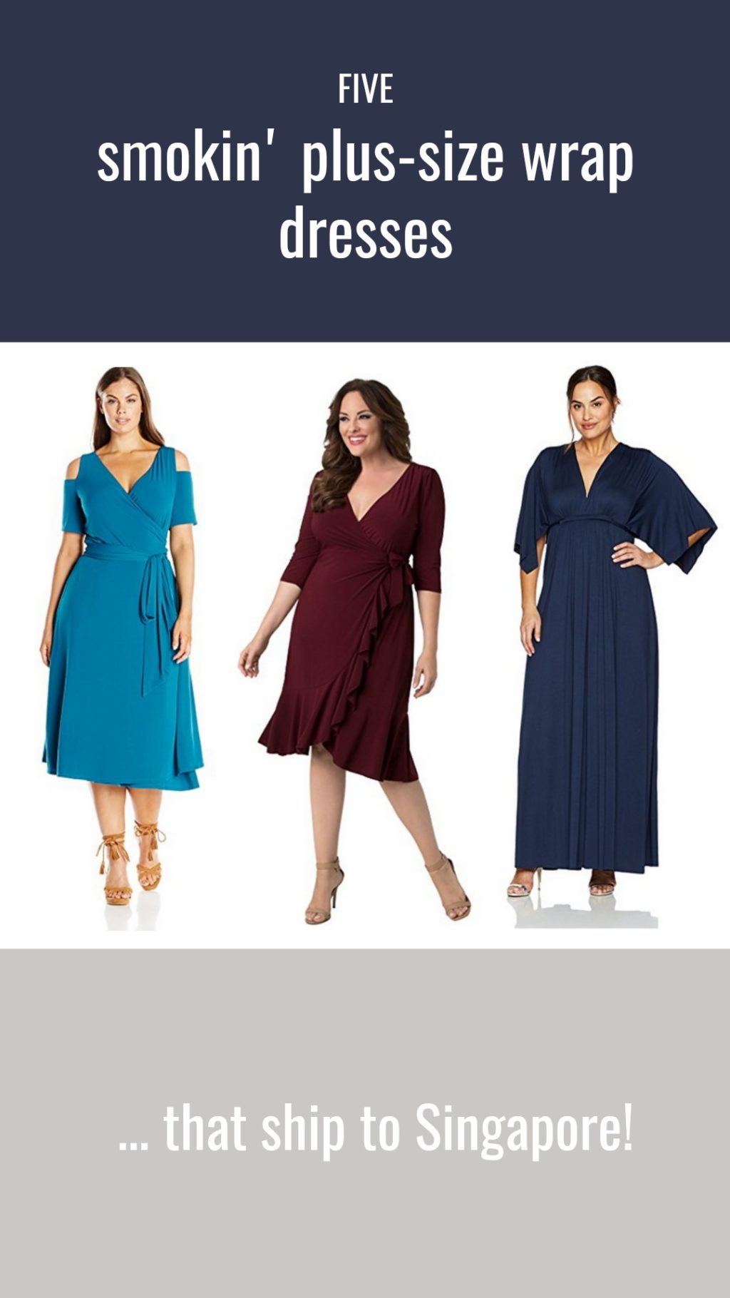 STYLO MILO: 5 Plus Size Wrap Dresses that You Can Get in Singapore